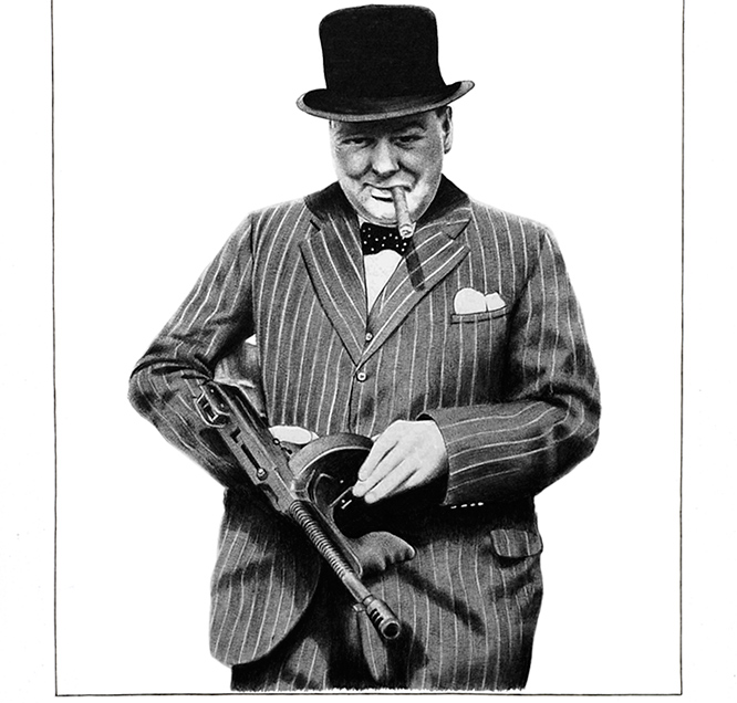 winston-churchill-tommy-gun-cigar-art